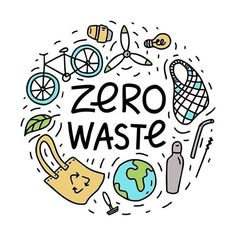 A cute zero waste graphic illustration. A cute zero waste graphic illustration. A cute zero waste gr Save Planet Earth, Save Our Earth, Love The Earth, Save The Planet, Save Environment, Sustainable Environment, Photo Deco, Design Poster, Plastic Waste