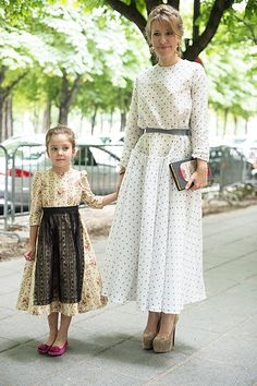 two generation of modest DRESS wearing gals
