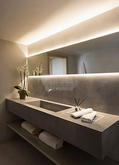 Elegant Home Interior .Elegant Home Interior Home Room Design, Dream Home Design, Modern House Design, Home Interior Design, Bathroom Sink Design, Bathroom Design Luxury, Concrete Bathroom, Dream Bathrooms, Bathroom Inspiration