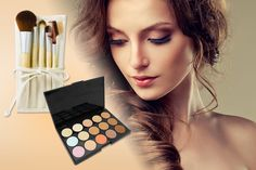 instead of (from Quick Style) for a facial contouring palette, with 5 bamboo eye makeup brushes & a travel case - save up to Eyebrow Brush, Eyeliner Brush, Concealer Brush, Lip Brush, Makeup Brush Set, Leeds, Forever Cosmetics, Facial, 3d Fiber Mascara