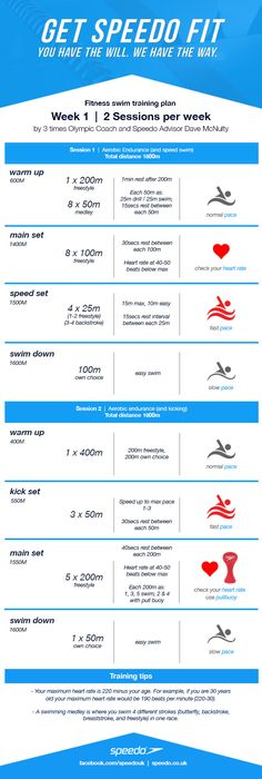 Dave McNulty Swim Fitness Training Plan - Week 1   Speedo Experience