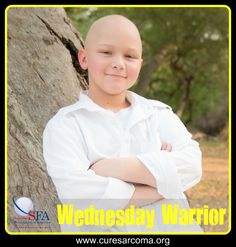 """""""He was told early on he would have to have his left arm amputated in order to save his life; however, instead of letting it get him down he adopted 'Happy' as his theme song."""" - Brian, dad to Damon, Sarcoma Foundation of America Wednesday Warrior  http://www.curesarcoma.org/wednesday-warrior-damon/  #WednesdayWarrior #CureSarcoma #cancer #sarcomaawareness #courage #inspiration #sarcoma #osteosarcoma #bonecancer #Happy"""