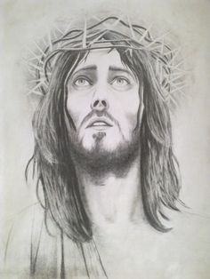 Pencil Art Drawings, Easy Drawings, Note Doodles, Easy Coloring Pages, Christian Artwork, Jesus Face, Drawing Exercises, Black Ink Tattoos, Biblical Art