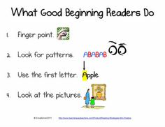 Beginning Readers Do - Good for Guided Reading Discussions