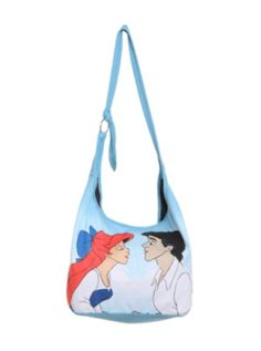 Disney The Little Mermaid Kiss Hobo Bag I want this :D