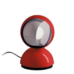 I had one of those when I was a kid..Artemide Eclisse Table Lamp red $160