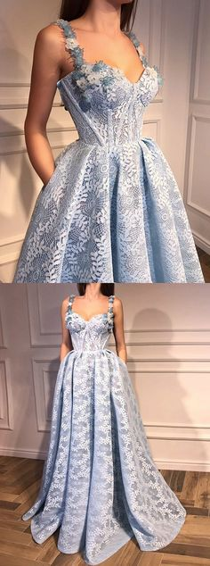 elegant blue prom party dresses with appliques, fashion formal evening gowns for special occasion, chic gowns , #dresses #formal #eveninggowns
