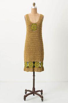 Needlework Sunflower Dress - Anthropologie.com