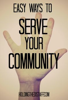 Easy Ways To Serve Your Community: volunteering can be fun and easy to coordinate. Some tips for creating your own service project.