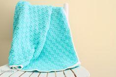 Basket Weave Baby Blanket for Web