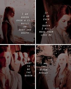 ♕ the women on being queens ♕ ♕ sansa, margaery, cersei and daenerys