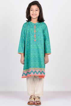 Khaadi -  Embroidered Kurta - Girls - Kids