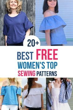 20+ Best Free Sewing Patterns For Women's Tops - AppleGreen Cottage