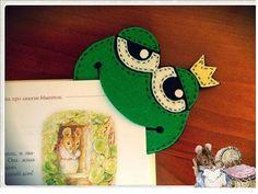 Çocuklarımızın kitap ve defter sayfalarına ayırıcı bir aparat kurbağa prens görünümünde bir aksesuar yapmaya ne dersiniz keçeciler