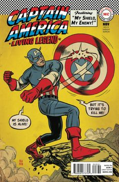 Captain America: Living Legend # 3 (Variant) by Mike Allred