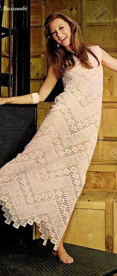 Crochet filet dress. — Crochet by Yana