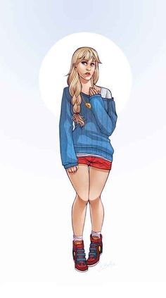 DC Comics Superheroines Dressed As Modern Hipsters - Supergirl