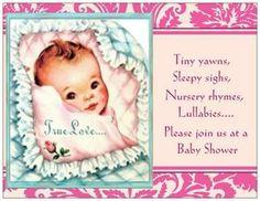 Baby GIRL Shower invites