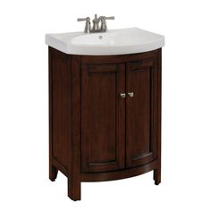 allen + roth 69187 Moravia Sable Integral Single Sink Bathroom Vanity with Vitreous China Top (Common: | Lowe's Canada