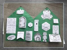 "With the templates you can design a lapbook on the theme of ""fairy tales"". These are blank templates that can be labeled independently by the children after the topic has been worked out. The Vo Design Blogs, App Design, Wood Chip Mulch, Tree Mulch, Woodland Party, Holiday Cocktails, Eyfs, Primary School, Craft Activities"