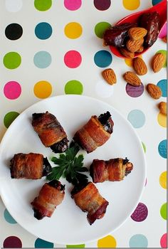 Almonds Wrapped in Dates Wrapped in Bacon | 17 Mouthwatering Bacon-Wrapped Snacks You Need To Try