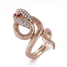 Cobra / Snake Ring for Women (Sizes 7-9)
