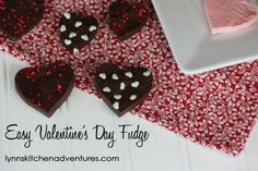 Easy Valentine's Day fudge. Makes great gifts for school and Sunday school teachers.