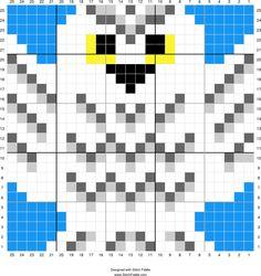 Hedwig | Designed by PixiTrix (Kimberly Allard) | Stitch Fiddle - Stitch Fiddle