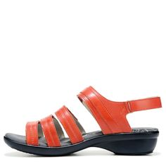 Propet Women's Aurora Narrow/Medium/Wide Sandals (Coral Leather) - 8.0 B