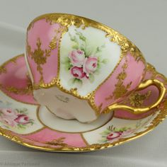 Pink Coffee Cups, Porcelain Mugs, Chocolate Cups, Tea Cup Saucer, Teacups, Afternoon Tea, Tea Set, Tea Party, Antiques