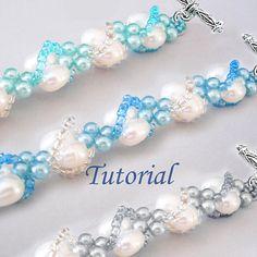 Beading Tutorial Beaded Seashells Spiral Bracelet by Splendere Seed Bead Jewelry, Beaded Jewelry, Handmade Jewelry, Seed Beads, Jewelry Crafts, Jewelry Ideas, Jewelry Design, Jewelry Patterns, Bracelet Patterns