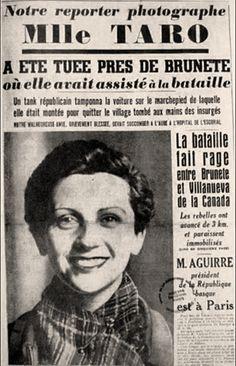 Búscame en el ciclo de la vida: 1556. Las últimas horas de Gerda Taro, la compañera de Capa, en Brunete