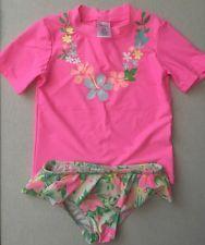 Carters Girls 2 Piece Rashguard Set, Size 6X, pink Hawaiian 🌺 Lei, Tropical