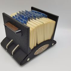 Rolodex V File V535 Blank Cards Black Steel 500 Vintage Usa Rotary