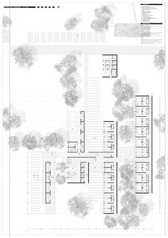 Architecture Portfolio, Architecture Drawings, Architecture Plan, Architecture Presentation Board, Master Plan, A3, University, Floor Plans, Sketch