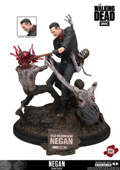"Negan Bashes Zombie Brains in McFarlane s Brutal New ""Walking Dead"" Statue ee89fcaff7"