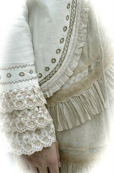 Dorothea.....you can never have too much lace or ruffles !!!