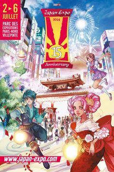 Japan Expo 2014. Du 2 au 6 juillet 2014 à Villepinte.