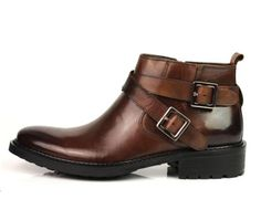 NEW MEN'S Fashion Real Leather Shoes Dress Ankle Boots Black OR Brown | eBay