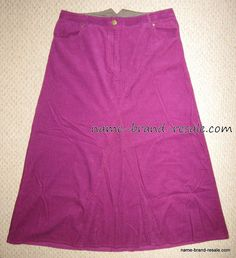 LONG TALL SALLY Womens UK 16 US 12 Purple Long Corduroy Skirt ALine Flare Modest #LongTallSally #ALine