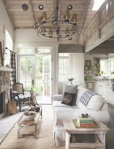 Gorgeous Rustic Living Room In