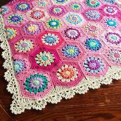 Color ideas for crochet flower blanket