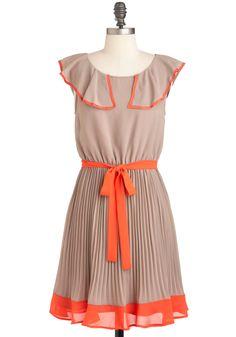 Beige orange dress