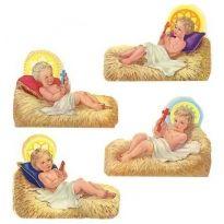 Baby Jesus in Manger Scraps ~ Vintage MLP ~ England