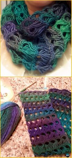 Crochet Broomstick Lace Infinity Scarf Free Pattern - Crochet Infinity Scarf Free Patterns