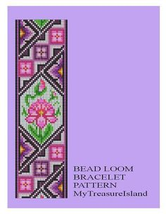 Bead Loom Antique Motif 2 Bracelet Pattern PDF by MyTreasureIsland
