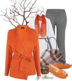 """Fall Orange"" by gaburrus on Polyvore"