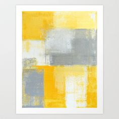 Abstract Paint Yellow Gray and White Canvas Painting Art Print Poster Picture Wall Painting Bedroom Home Wall Decor Framed Art Prints, Painting Prints, Poster Prints, Art Paintings, Canvas Prints, Yellow Painting, Art Posters, Acrylic Paintings, Painting Art