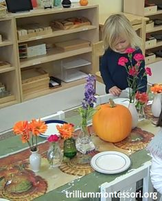 Preschool Thanksgiving Feast- Setting the Table