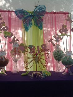 Butterfly Party #butterfly #party. Also check out my cute wings and tutu for your next event. www.partiesandfun.etsy.com